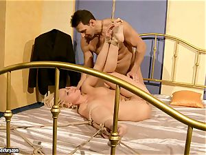 steamy Kathia Nobili gets her coochie crammed with trouser snake