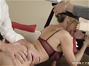 The hubby of Brandi enjoy lets her plow a different boy