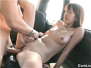 chinese porn industry star Marica Hase penetrated on Wheels