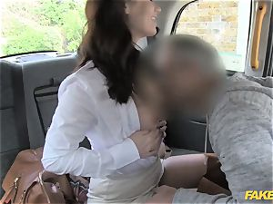 fake cab warm minx comes back for tough anal invasion