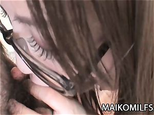 Miu Shinohara - 4 saw JAV cougar hairy snatch Plugged