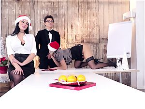 backsides BUERO - naughty Christmas group hump at the office