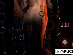 Disco honey Leya gets an ass fucking humping and internal ejaculation