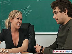 Brandi enjoy prepared for his meaty trouser snake to be deep inwards her mummy vag