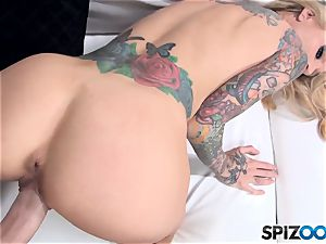 observe Sarah Jessie take a enormous cock inwards her