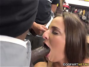 Amirah Adara deep-throats An whole squad Of black fellows