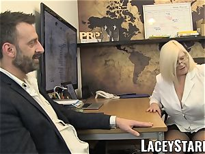 LACEYSTARR - GILF tongues Pascal milky jism after fuckfest