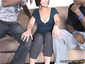 anal babe Sarah Shevon multiracial double penetration