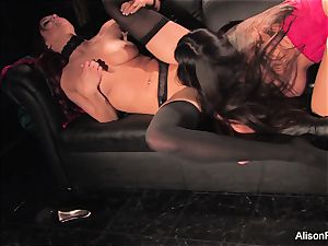 Alison Tyler and Jayden Cole pound each other