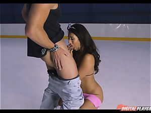 ultra-kinky black-haired Eva Lovia poked deep in her pussy pie at the ice rink