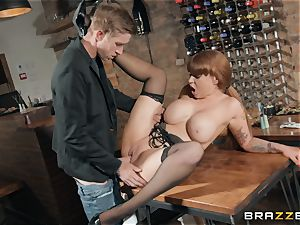 Danny sticking his huge meatpipe into steamy redhead