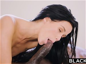 BLACKED steaming Megan Rain Gets DP'd By Her Sugar dad and His mate