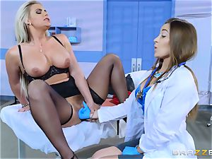 super-naughty patient Phoenix Marie lesbo plumb with Dani Daniels