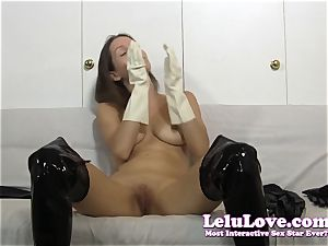 I wank in lots of different types of gloves