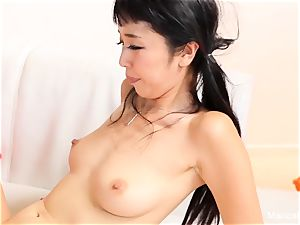 japanese cutie Marica Hase fellates and drills a big black cock