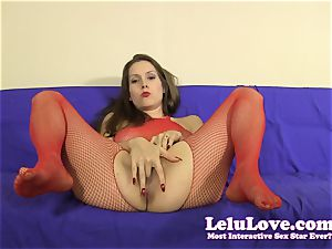 Lelu Love-Bodystocking taunt frigging JOE