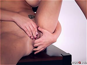 curvaceous Brett Rossi uses her fresh fucktoy to satiate herself