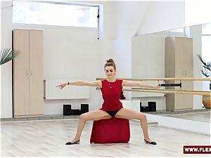 red clad teen Zadornaya is a pro