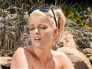 The Getaway Pt 3 showcasing handsome lezzies Dillion Harper and Charlotte Stokely