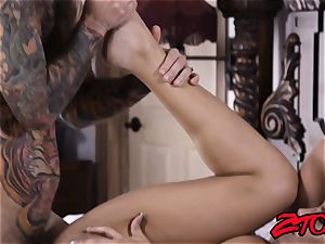 stiffy craving cougar Mercedes Carrera ate and pummeled
