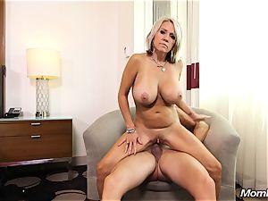 massive boobies milf gets assfuck tear up and facial cumshot