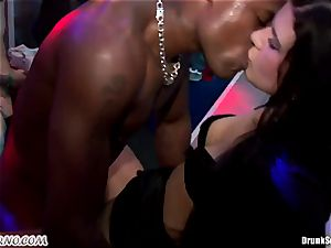 Mass porn romp in a striptease bar