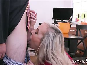 Virtual mother birthday and mummy gets honeypot ate hardcore Halloween exclusive With A threesome
