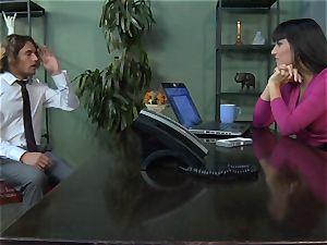 Mercedes Carrera gets an employees dick deep inwards her