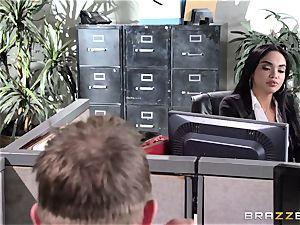 Selena Santana ravages a phat office bone