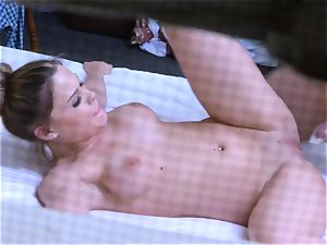 Brianna brown caught on spy web cam as she smashes