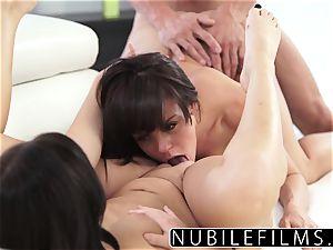 Megan Rain g/g Dare And erotic threesome