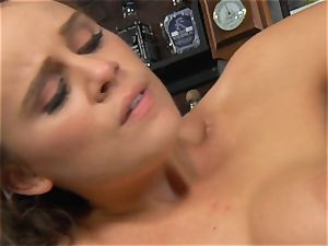 Alexis Adams pummels the boss in the bar