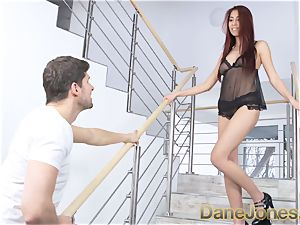 Dane Jones asian hottie gives bf splendid undergarments