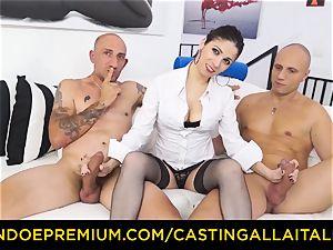 casting ALLA ITALIANA - torrid cougar has double assfuck joy