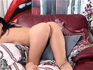 trendy Jade Baker masturbates solo for you