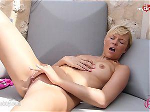 MyDirtyHobby - steamy ash-blonde tugging outdoor!