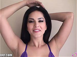 SunnyLeone Sunny Leone in marvelous purple underwear