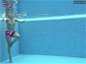 super-steamy tattooed Czech luxurious in the pool