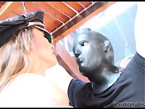 HARMONY VISION anal plumbing Alicia Rhodes with strap-on