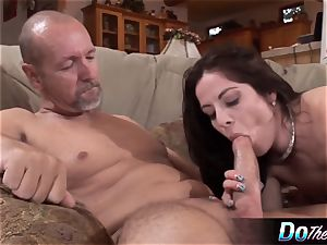 hubby observes wife take large dick