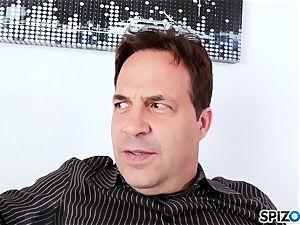 watch Mr Eric slurp Zoe Clarks fleshy little taut fuckbox