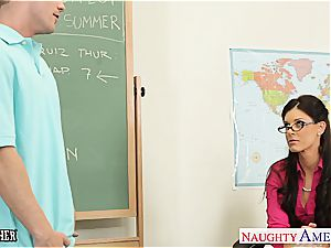 little jugged tutor India Summer pulverize her teenager student