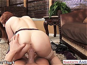 Ginger Penny Pax in pov getting her cunt rode