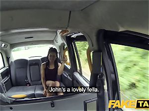 fake taxi quick screwing and internal cumshot for peachy ass