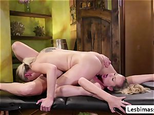 Kenzie Taylor spreads Brett Rossis poon and makes it climax