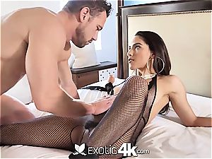 Exotic4k brazilian Adrian Hush strapped up boink and internal ejaculation