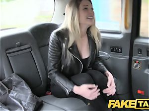 faux cab footjob and enormous popshot for ultra-cute smoothly-shaven puss