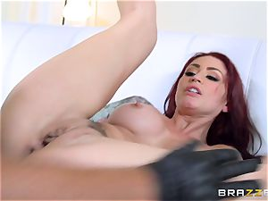 ginger-haired wife Monique Alexander gets porked in front of her husband