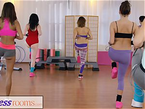 sport apartments gym damsels have lezzy three-way