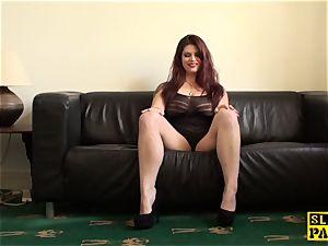 redhead victim mega-slut wanking until ejaculation